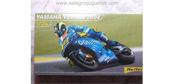 miniature motorcycle Yamaha YZR M1 2004 escala 1/24 Heller