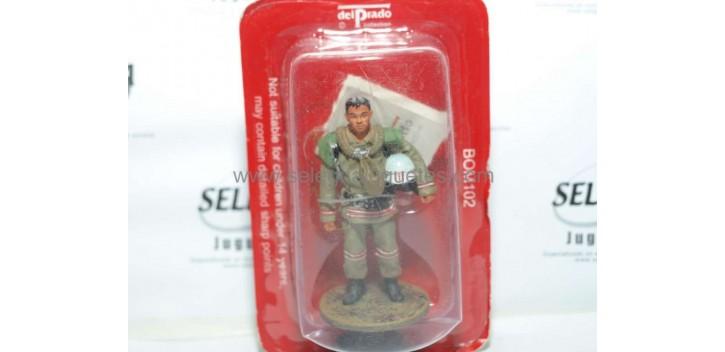 soldado plomo Bombero con traje ignífugo Mongolia 2004 Figura