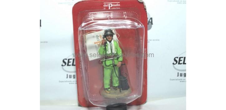 soldado plomo Bombero con traje ignífugo Pekín China 2002