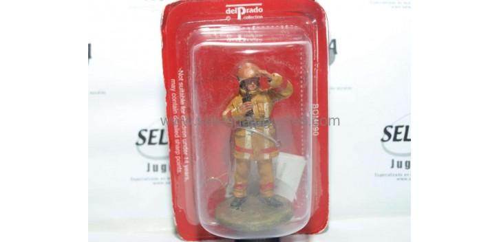 soldado plomo Bombero con traje ignífugo Moscú 2002 Figura