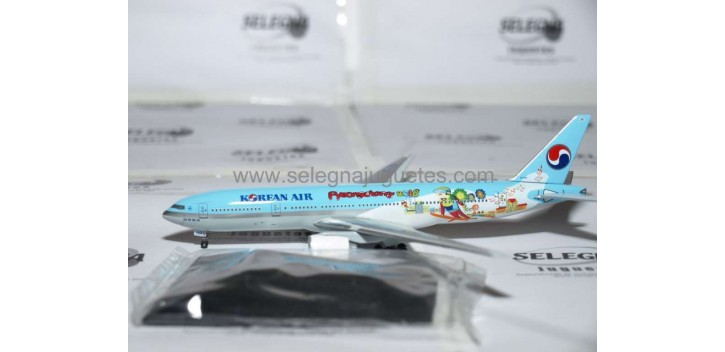 Boeing 777-200 Korean Air Pyeongchang 2018 escala 1/400 Dragon Aviones metal