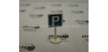 Parking Estacionamiento señal trafico escala 1/43 cararama coche metal miniatura