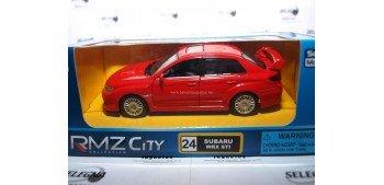 Subaru Wrx STI rojo escala 1/32 RmZ coche metal miniatura