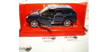 Porsche Cayenne Turbo azul escala 1/34 a 1/39 Welly