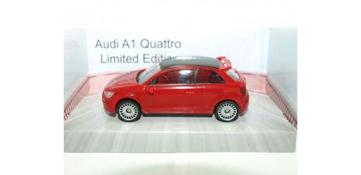 Audi A1 Quattro rojo escala 1/43 Mondo Motors Coche metal miniatura