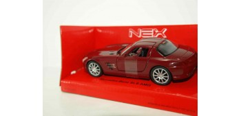 Mercedes Benz SLS AMG rojo escala 1/34 a 1/39 Welly Coche metal miniatura
