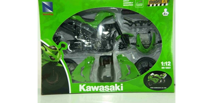 Kawasaki ZX 10 R 2006 escala 1/12 New Ray kit moto metal miniatura