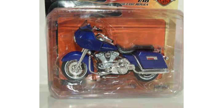 moto miniatura Harley Davidson 2000 FLTR Road Glide escala 1/18