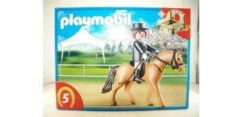Playmobil - Caballo de deporte alemán con establo verde y gris