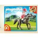 <p>MARCA:<strong>Playmobil</strong></p> <h2>MODELO:Caballo árabe con establo marrón y amarillo</h2>