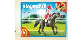 lead figure Playmobil - Caballo árabe con establo marrón y