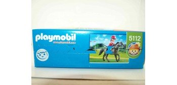Playmobil - Caballo árabe con establo marrón y amarillo