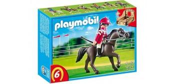escala auto Playmobil - Caballo árabe con establo marrón y
