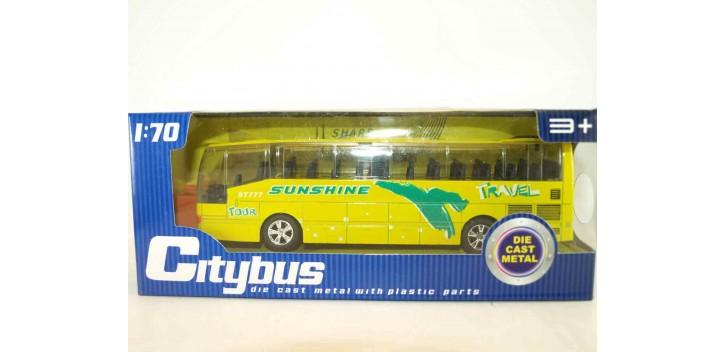 Autobus plastico con música - amarillo escala 1/70