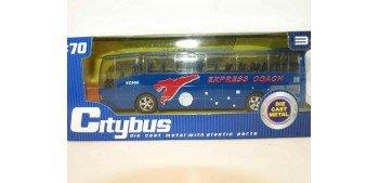 Autobus plastico con música - azul escala 1/70