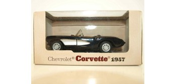 coche miniatura Chevrolet corvette 1957 escala 1/34 a 1/39