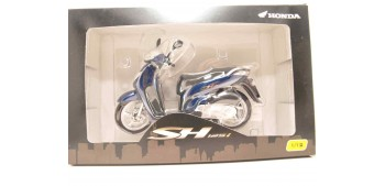 miniature motorcycle Honda SH125i azul scale 1:12 miniature