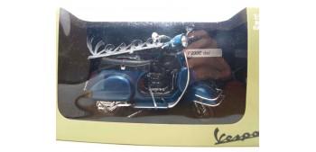 miniature motorcycle Vespa P200E azul escala 1/12 moto metal