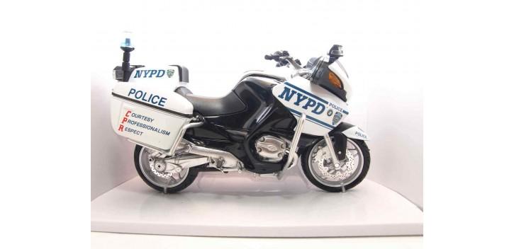 BMW R1200RT NYPD (policia Nueva York) escala 1/12 New Ray moto metal miniatura