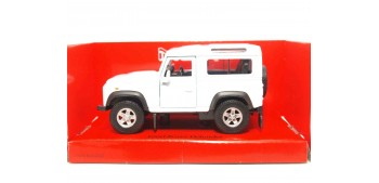 Land Rover Defender blanco escala 1/34 a 1/39 Welly Coche metal miniatura