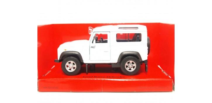 Land Rover Defender blanco escala 1/34 a 1/39 Welly Coche metal miniatura