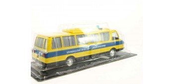 Autobús Ruso Policía Laboratorio Criminal escala 1/43 coche metal miniatura