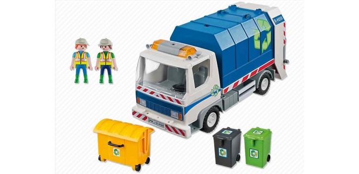camion miniatura Playmobil - Camión de Reciclaje con Luces