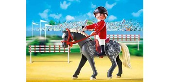 Playmobil - Trakehner con Establo Marrón y Amarillo - caballo - 5110 Playmobil