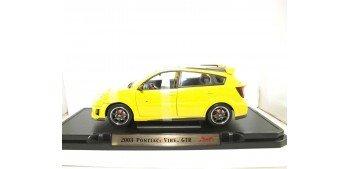 Pontiac Vibe Gtr 2003 amarillo escala 1/18 Yat Ming coche
