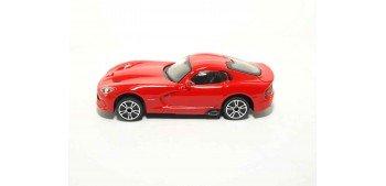 Dodge Viper Gts Srt escala 1/43 Burago Coche metal miniatura sin caja Bburago