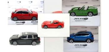 Lote 5 coches (3) escala 1/43 Burago Coche metal miniatura
