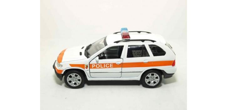 Bmw X5 Suiza auto policia escala 1/36 - 1/38 Welly coche metal miniatura