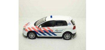 Volkswagen Golf V Holanda auto policia escala 1/36 - 1/38 Welly coche metal miniatura