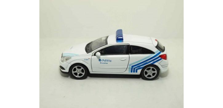 Opel Astra GTC 05 Bélgica auto policia escala 1/36 - 1/38 Welly coche metal miniatura
