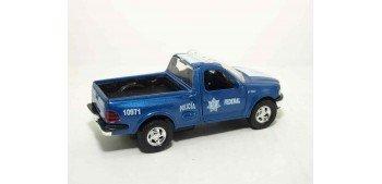 Ford F150 97 México auto policia escala 1/36 - 1/38 Welly coche metal miniatura