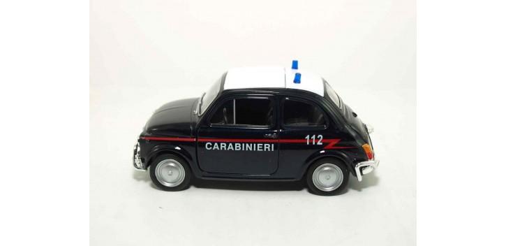 Fiat Nuova 500 Italia auto policia escala 1/36 - 1/38 Welly coche metal miniatura