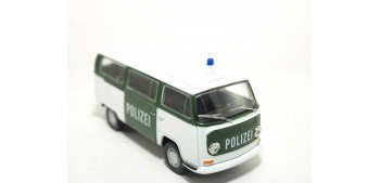 Volkswagen Bus T2 72 Alemania auto policia escala 1/36 - 1/38 Welly coche metal miniatura