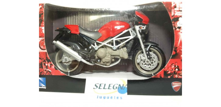 Ducati Monster S4 roja escala 1/12 new ray moto miniatura escala