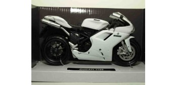 miniature motorcycle Ducati 1198 blanca escala 1/12 New ray