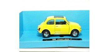 Fiat 500 F amarillo escala 1/32 New Ray coche en miniatura