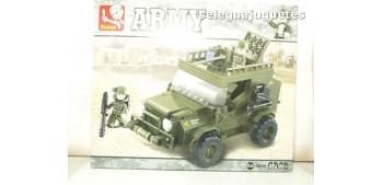 lead figure Sluban Suv M38-B0299 Jeep juego de piezas
