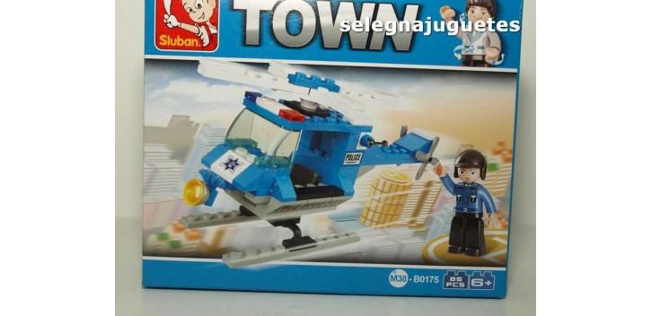 Sluban Police Helicopter M38-B0175 Helicoptero de Policia juego
