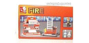 escala auto Sluban Fire Truck M38-B0276 Camión de Bomberos