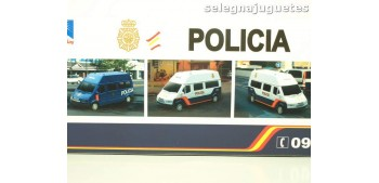 coche miniatura Furgón Ford Transit blanco Policia Nacional
