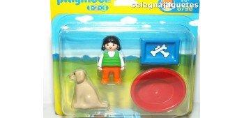 Playmobil 1.2.3 - Niña con Perro 6796