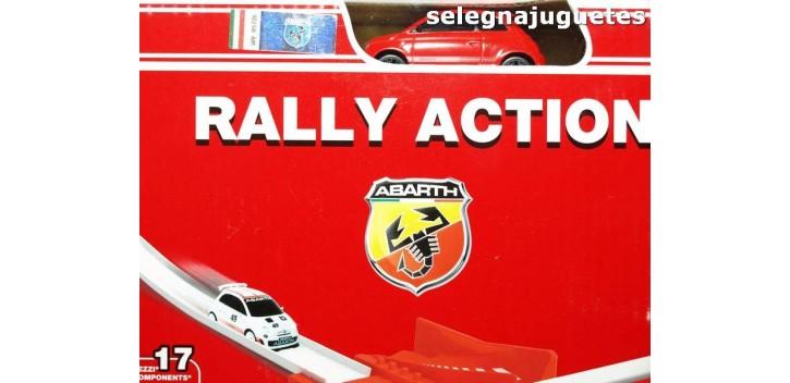 coche miniatura Fiat Abarth rally action, coche mas circuito