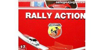 Fiat Abarth rally action, coche mas circuito escala 1/64