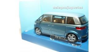 Volkswagen Microbus 2001 azul Furgoneta escala 1/43 Cararama