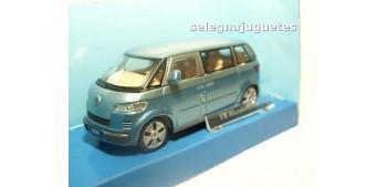 coche miniatura Volkswagen Microbus 2001 azul Furgoneta escala