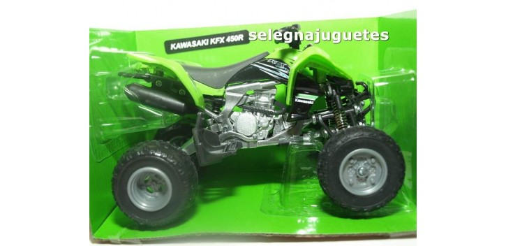 moto miniatura Kawasaki KFX 450R Quad 1/12 New ray moto